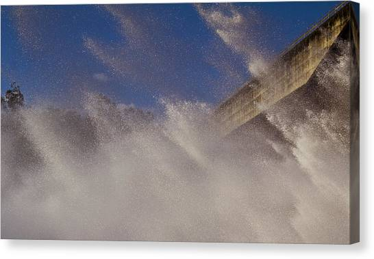 Power Of Water Canvas Print by Debbie Cundy