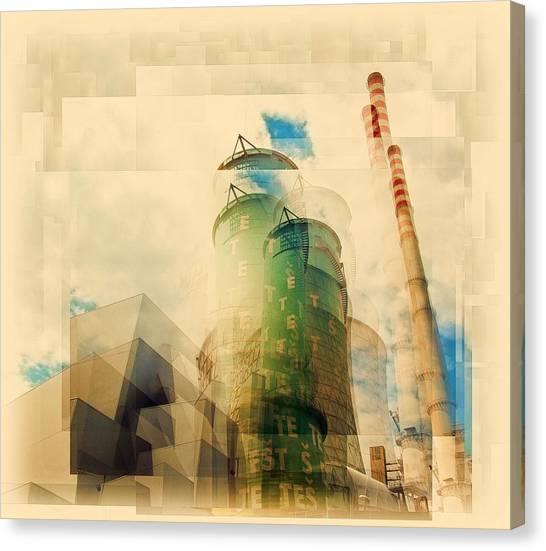 Cubism Canvas Print - Power Plant by Brut Carniollus