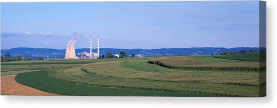 Contour Canvas Print - Power Plant Energy by Panoramic Images