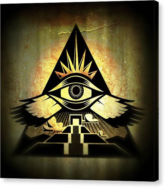 Power Pyramid Canvas Print by Milton Thompson