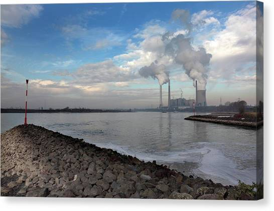 Climate Change Canvas Print - Power Station by Detlev Van Ravenswaay