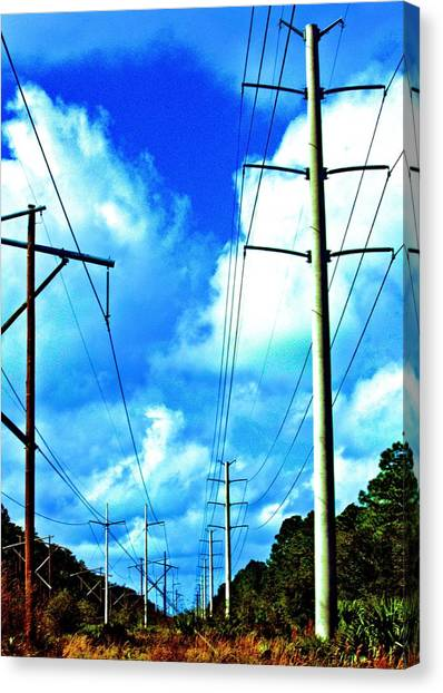 Power To The Infinity Canvas Print