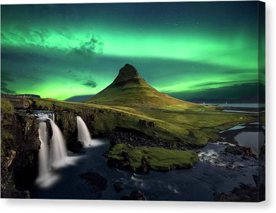 Aurora Borealis Canvas Print - Powered By Light by Carlos Resende