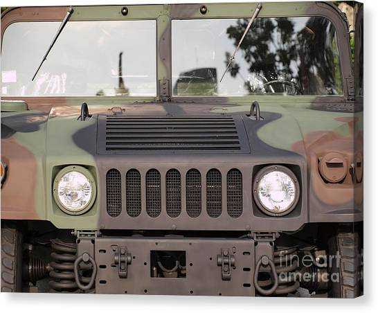 Powerful Army Off Road Vehicle Canvas Print