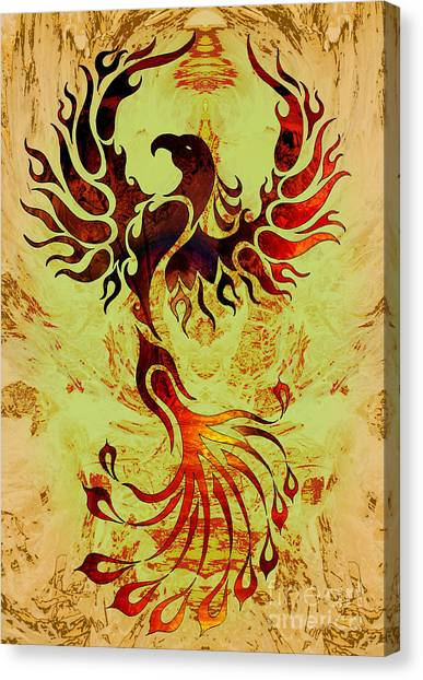 Phoenix Suns Canvas Print - Powerful Phoenix by Robert Ball