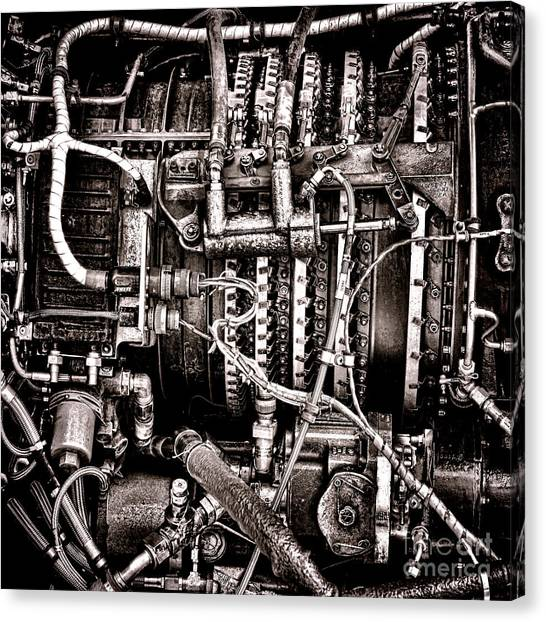 Helicopters Canvas Print - Powerplant by Olivier Le Queinec