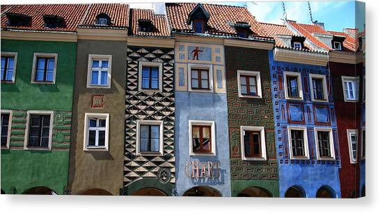 Poznan Town Houses Canvas Print