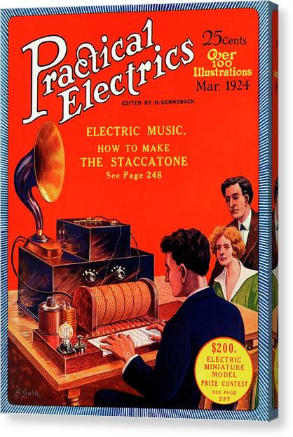 Electronic Instruments Canvas Print - Practical Electrics Front Cover by Universal History Archive/uig