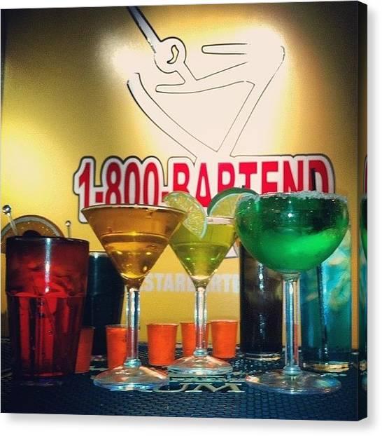 Martini Canvas Print - Practice Round. #margarita #martini by Rebecca Kraut