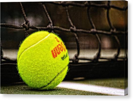 Tennis Players Canvas Print - Practice - Tennis Ball By William Patrick And Sharon Cummings by Sharon Cummings