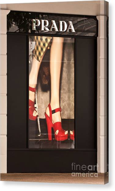 Prada Red Shoes Canvas Print