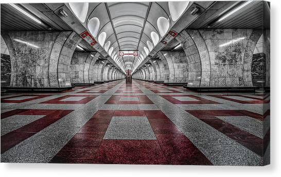 Subway Canvas Print - Prague Metro by Massimo Cuomo