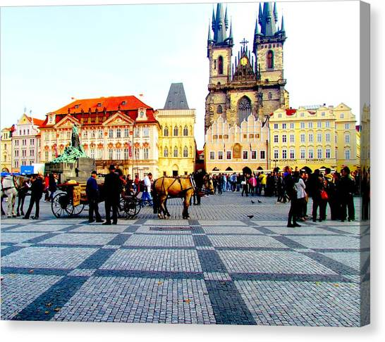 Prague Canvas Print - Prague Old Town by Elaine Weiss