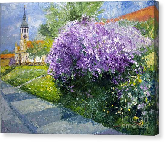 Oil On Canvas Print - Prague Spring Loreta Lilacs by Yuriy Shevchuk
