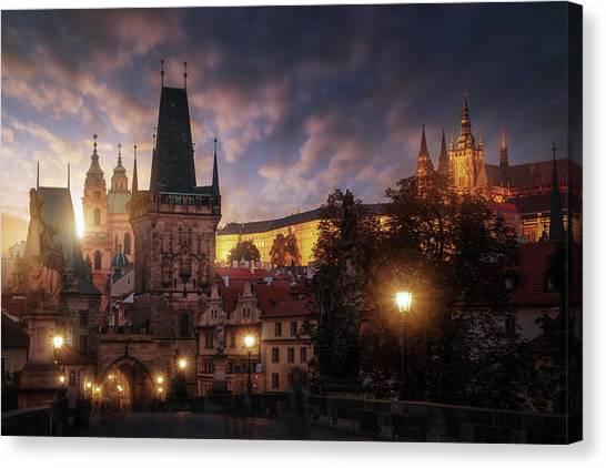 Prague Sun. Canvas Print by Juan Pablo De