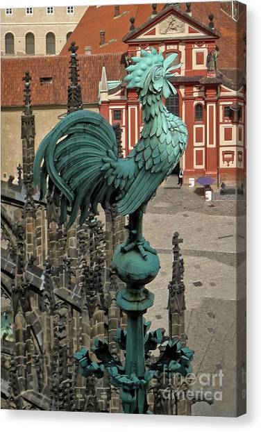 Prague - View From Castle Tower - 01 Canvas Print by Gregory Dyer