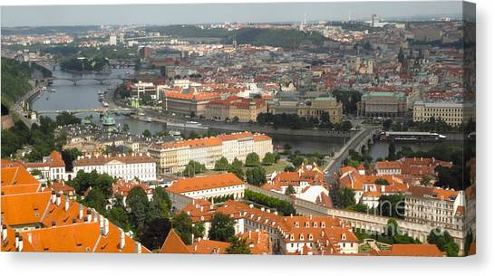 Prague - View From Castle Tower - 02 Canvas Print by Gregory Dyer