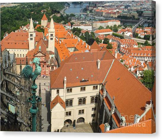 Prague - View From Castle Tower - 04 Canvas Print by Gregory Dyer