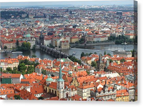 Prague - View From Castle Tower - 05 Canvas Print by Gregory Dyer