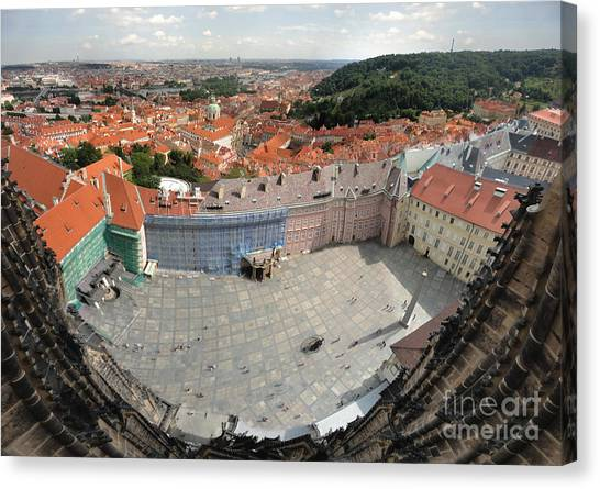 Prague - View From Castle Tower - 08 Canvas Print by Gregory Dyer