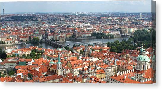 Prague - View From Castle Tower - 09 Canvas Print by Gregory Dyer