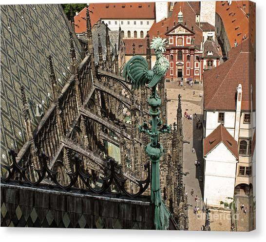 Prague - View From Castle Tower - 11 Canvas Print by Gregory Dyer