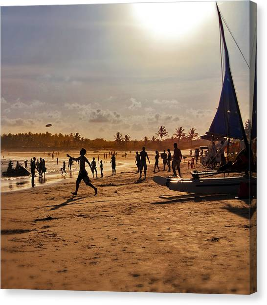 Trip Canvas Print - Praia Do Frances - Alagoas by Carlos Alkmin