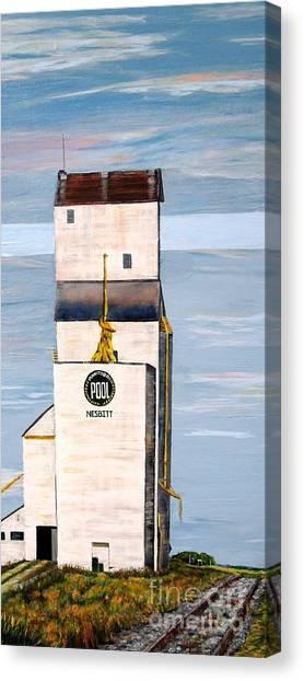 Prairie Icon - Manitoba Pool Elevator Canvas Print