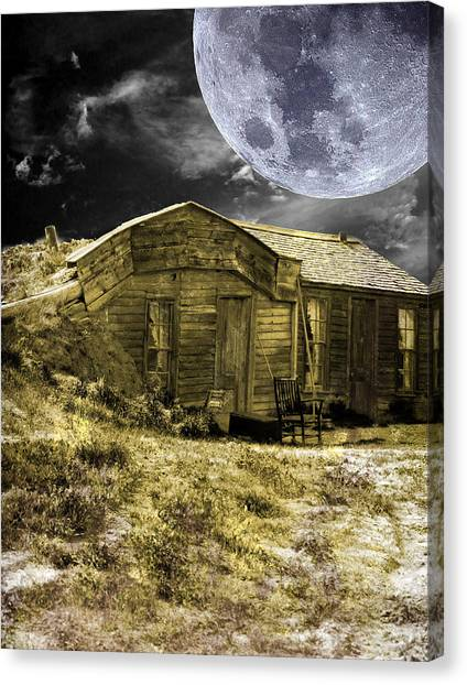 Canvas Print featuring the photograph Prairie Life Digital by Judy Hall-Folde