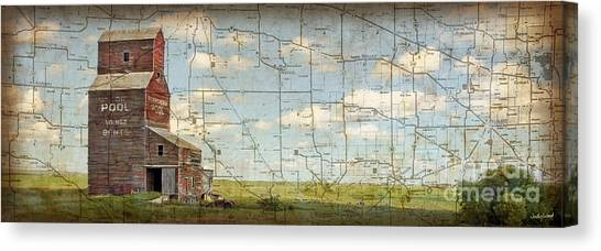 Prairie Panorama Canvas Print by Judy Wood