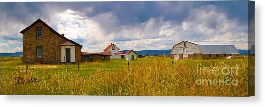 Wyoming Prairie Scene Canvas Print