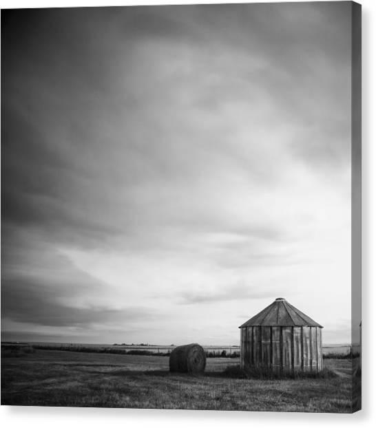 Prairie Silo Canvas Print