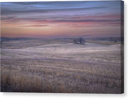 Prairie Sunset Canvas Print - Prairie Sunset North Dakota 3 by Tom Phelan