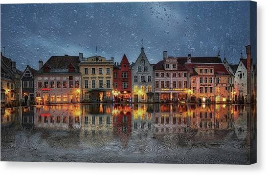 Rain Drops Canvas Print - Prank by Eduard Gorobets