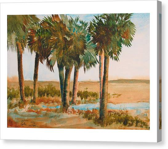 Prarie Palms II Canvas Print