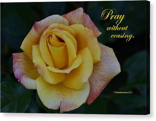 Pray Without Ceasing Canvas Print by Larry Bishop