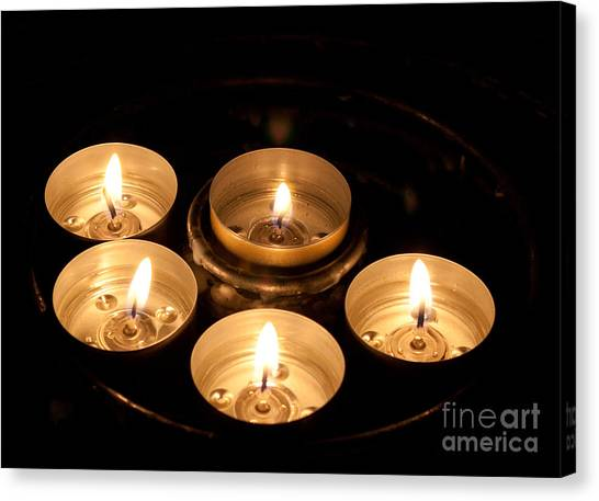 Prayer Candles In Notre Dame Canvas Print