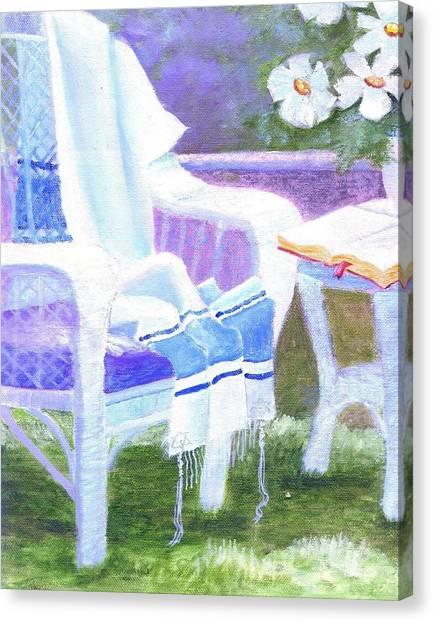 Prayer Chair Canvas Print
