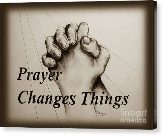 Prayer Changes Things 2 Canvas Print