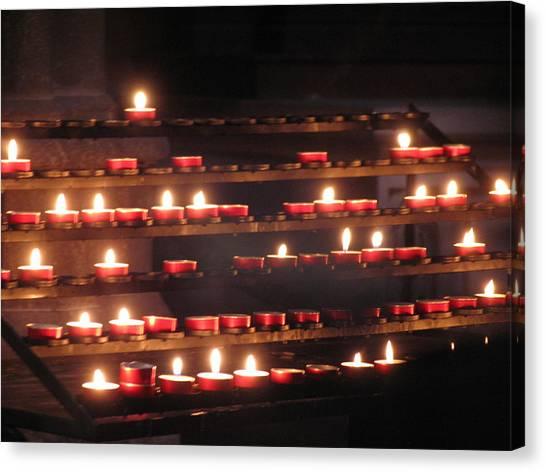 Prayer Lights Canvas Print
