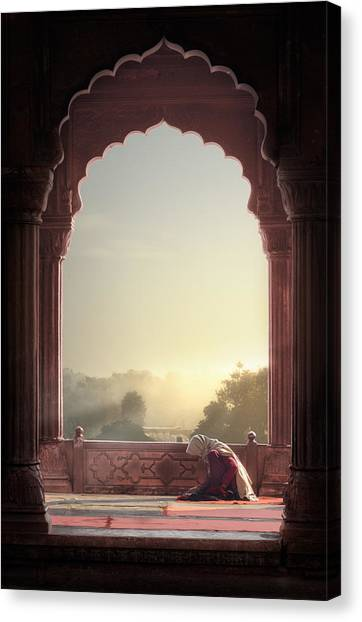 Mosques Canvas Print - Prayer by Nadav Jonas