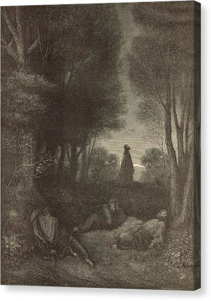 Prayer Of Jesus In The Garden Of Olives Canvas Print by Antique Engravings