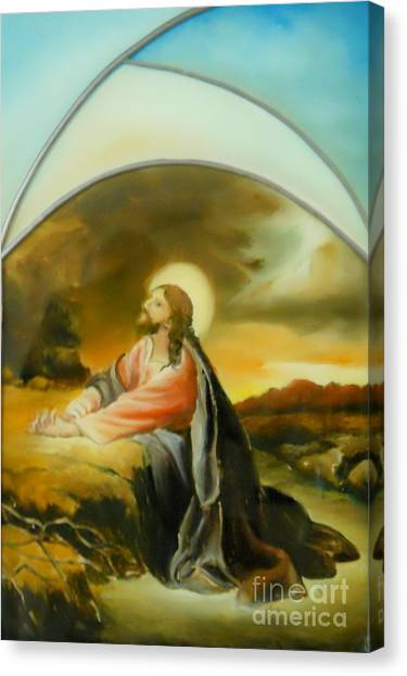 Prayer Of Jesus Canvas Print