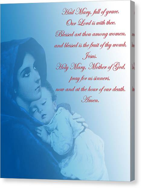 Prayer To Virgin Mary 2 Canvas Print