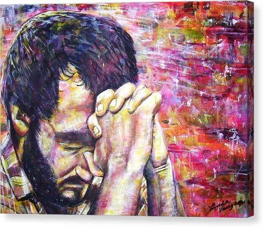 Prayer Warrior Canvas Print by Linda Vaughon