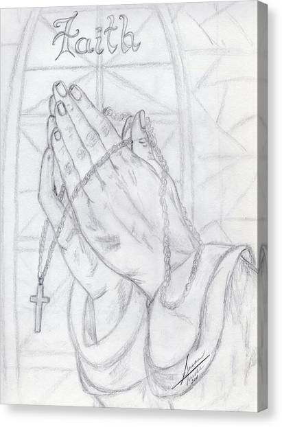 Praying Hands Canvas Print