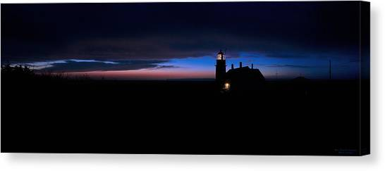 Pre Dawn Light Panorama At Quoddy Canvas Print