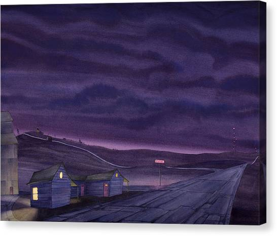 Canvas Print featuring the painting Pre-dawn On The Hi-line Vi by Scott Kirby