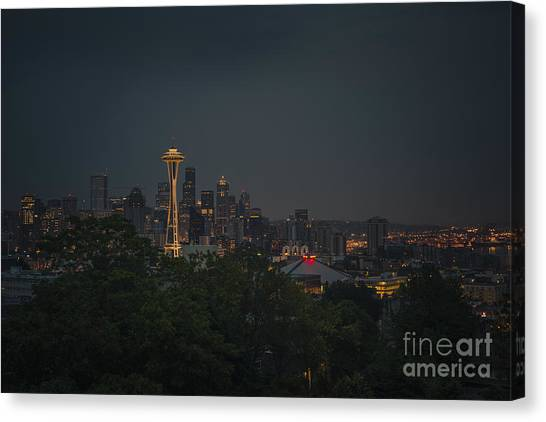 Pre-dawn Seattle Canvas Print