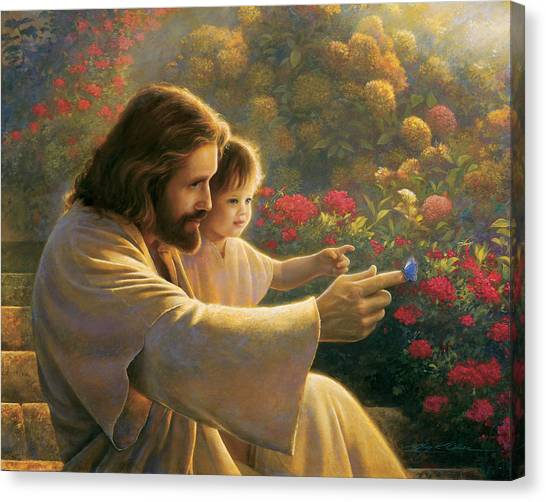 Girl Canvas Print - Precious In His Sight by Greg Olsen